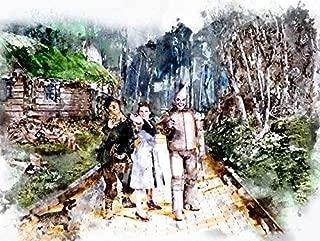 Wizard of Oz, Follow the Yellow Brick Road Watercolor Art Print