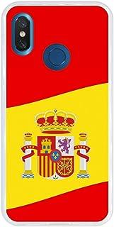 Bandera Espa/ña Transparente Gel Silicona Flexible, Dise/ño Exclusivo Funnytech/® Funda Silicona para Samsung Galaxy A50