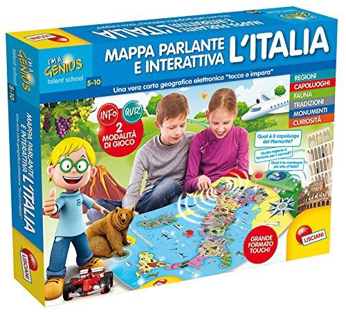 Lisciani Giochi 56484 Mappa Elettronica INTERATTIVA Italia(16, Multicolore