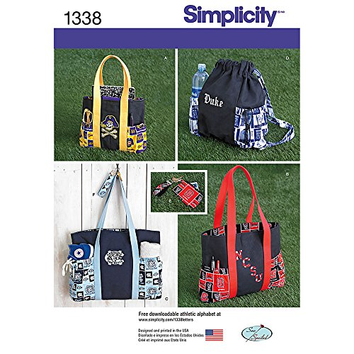 Simplicity 1338 Schnittmuster für Tasche, Rucksack und Geldbörse, Einheitsgröße