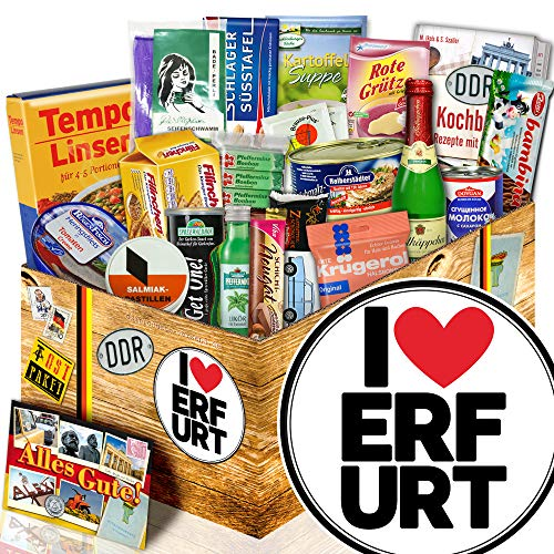 I love Erfurt - schöne Geschenke Erfurt - DDR Spezialitäten Box Ostpaket