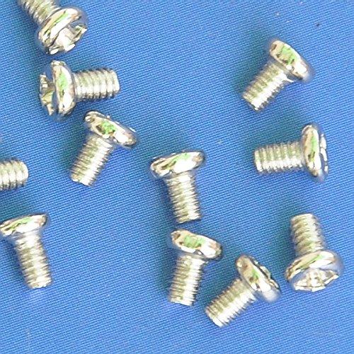 Electronics-Salon 50pcs m2 x 4 mm Phillips Pan Vis à tête en métal.