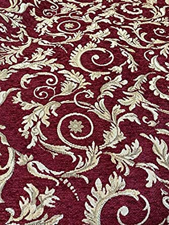 Wine Serenade Chenille Upholstery Drapery Fabrics 56 wide fabric by the yard