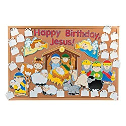 Happy Birthday Jesus Bulletin Board Set