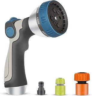 Garden Hose Nozzle Spray Nozzle, Heavy Duty Hose Sprayer with 8 Adjustable Patterns, High Pressure Water Hose Spray Nozzle...