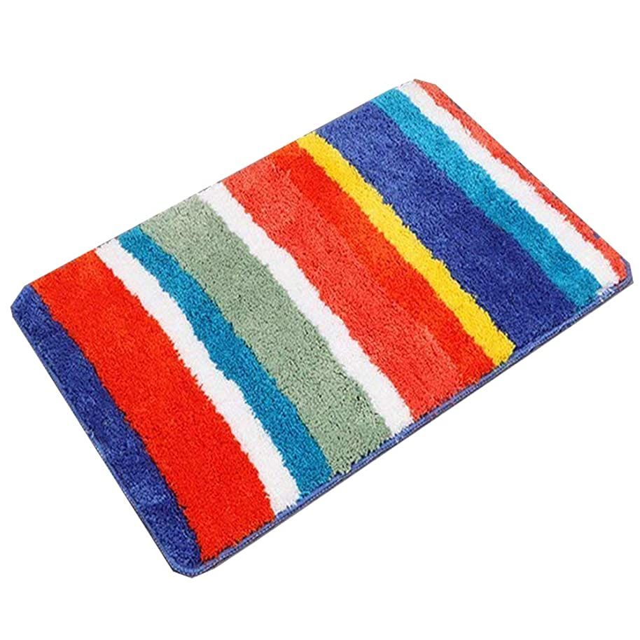HEBE Non Slip Bathroom Shower Rug Soft Microfiber Bath Rugs Floor Mat for Kids Bathroom Absorbent Machine Washable(20