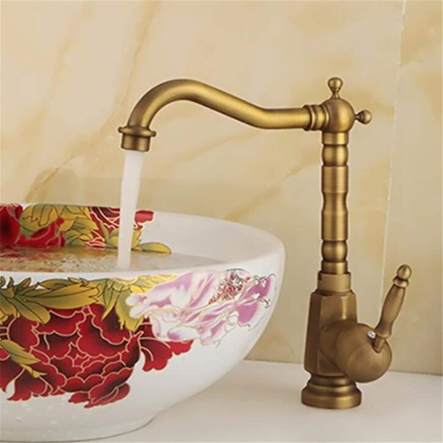 Faucets Basin Mixer ?New Product Antique Kitchen Mixer Tap with Solid Brass Antique Kitchen Faucet for Hot Cold Bathroom Basin Sink Tap