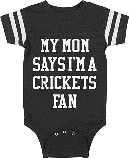 My MOM SAYS I'm A Crickets Fan: Infant Rabbit Skins Football Bodysuit