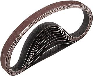 3/8 tum x 13 tum 800 slipbälte aluminiumoxid sandpappersremsor för bärbar bandslipmaskin träfinish metall gipsskiva slipma...
