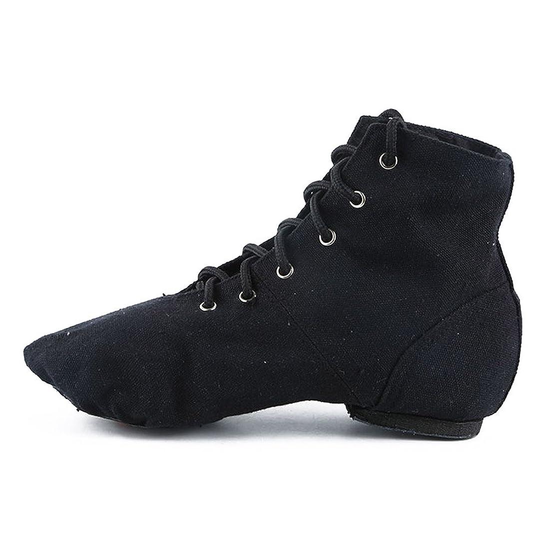 重さ周波数文[FoFxly] ダンスシューズ レディース 靴 ジャズ 練習用 ヒップホップ ベリー ラテン バレエ 布製スプリット