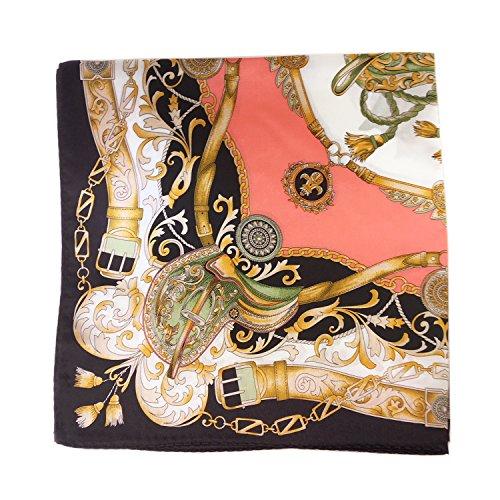 Silk Run – 'Zeitkapsel' Quadratischer Schal 100% Seide (55cmx55cm, Farbe: rot)