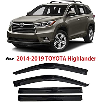 In-Channel AVS Rain Guards 194427 Window Vent Visor Fit 15-18 Toyota Highlander
