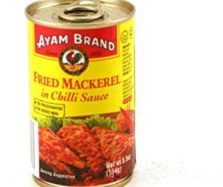 Fried Mackerel in Chili Sauce - 5.5oz (Pack of 6)