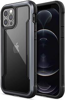 X Doria Raptic Shield Fall kompatibel mit iPhone 12 & iPhone 12 Pro Fall, Stoßdämpfung Schutz, langlebige Aluminiumrahmen, 10ft Drop getestet, passt iPhone 12 & iPhone 12 Pro, Schwarz