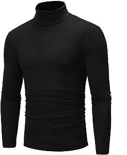 Autumn Winter Men's Pullover Sweaters High Collar Long Sleeved Basic Slim Warm Jumper Turtleneck Pull