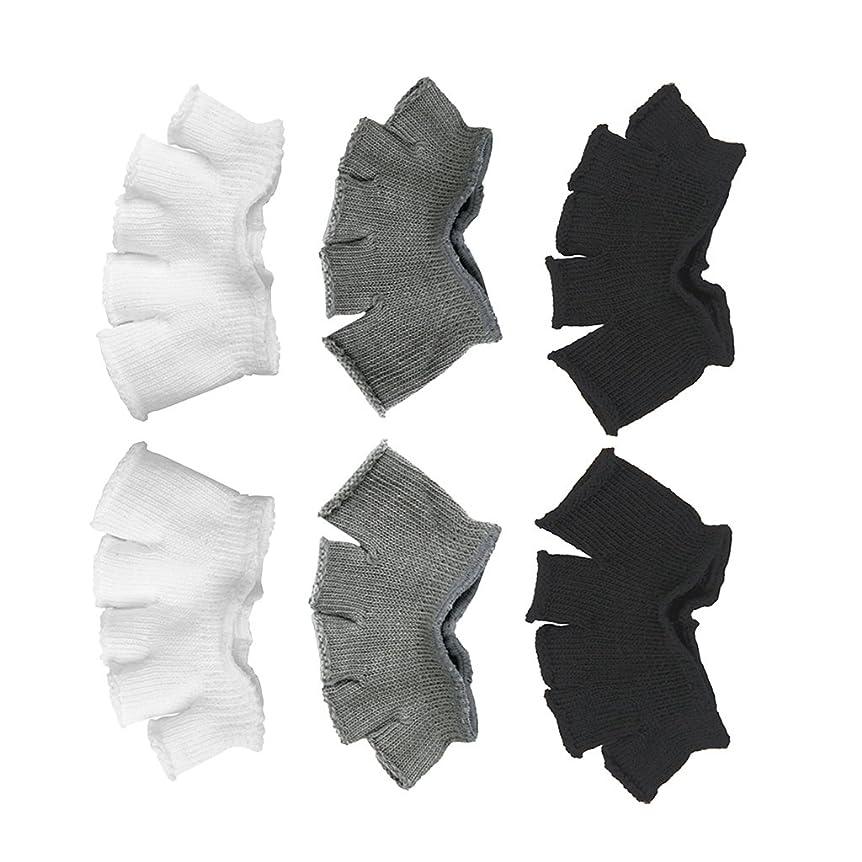 ちょうつがいパンフレットずっとFootful 5本指カバー 爽快指の間カバー 3色(12枚入) 6ペア 男女兼用 足の臭い対策 抗菌 防臭 フットカバー ブラック/ホワイト/グレー