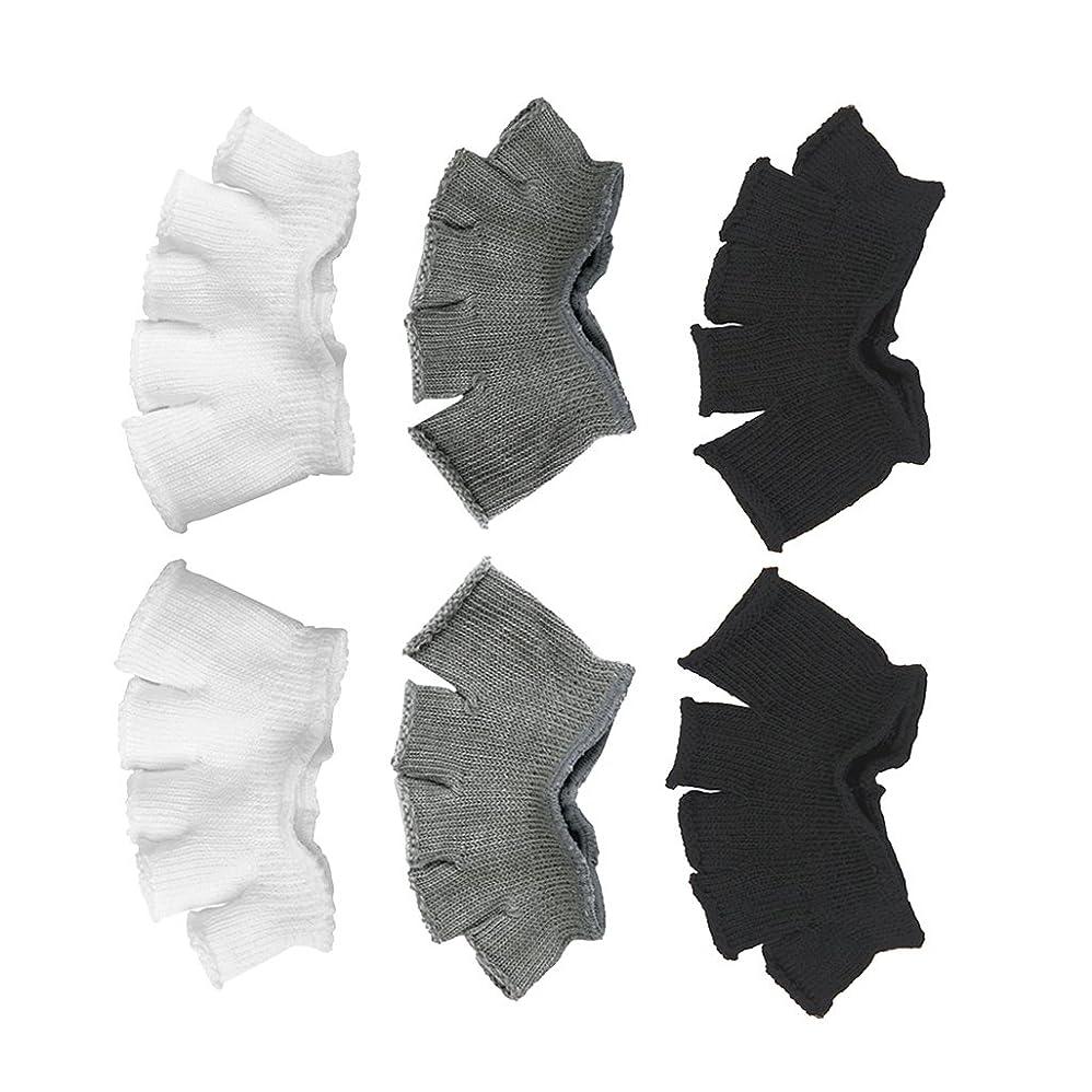 劣る父方の手順Footful 5本指カバー 爽快指の間カバー 3色(12枚入) 6ペア 男女兼用 足の臭い対策 抗菌 防臭 フットカバー ブラック/ホワイト/グレー