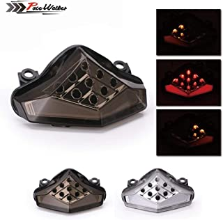 RONGLINGXING Accessories Universal Replacement Repair Motorcycle Parts Modification Accessories, Compatible with Kawasaki Ninja 650R ER6N ER6F 2012-2014, Integrated Taillight Brake Signal Turn Signal