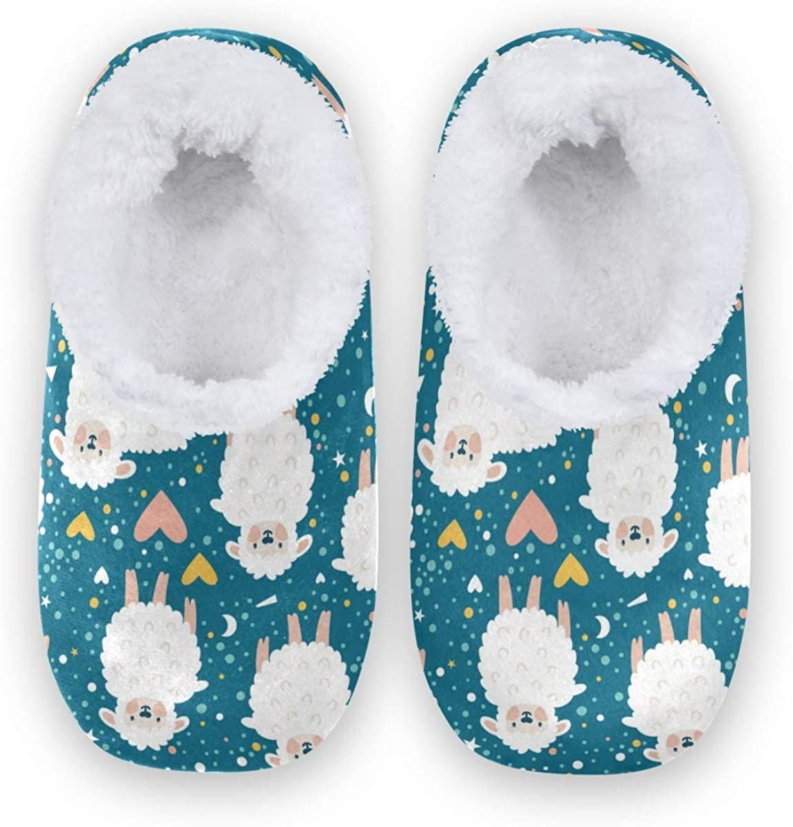 AGONA Sale SALE% OFF Blue Cute Sheep Animal Max 54% OFF Heart Dots Slippers House Colorful