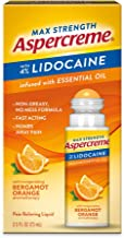 Aspercreme Essential Oils Lidocaine Pain Relief with Bergamot Orange, No Mess Applicator, 2.5 oz.