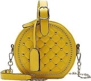 Fanspack Round Shoulder Bag Crossbody Handbag Small Shoulder Bag for Women
