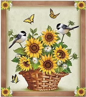 Sunflowers and Birds Dishwasher Decorative Magnet