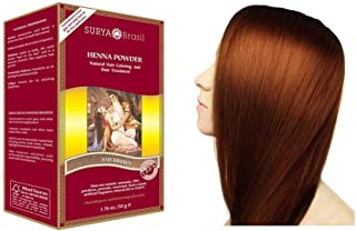 SURYA BRASIL - Henna Powder - Ash Brown - 100% Natural - Coloring and Conditioning Hair Treatment - Hypoallergenic and Der...