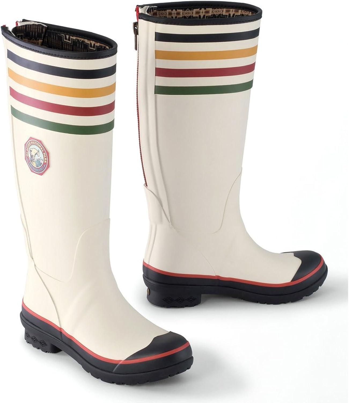 Pendleton New Women's Heritage Tall Glacier National Park Boot White 10