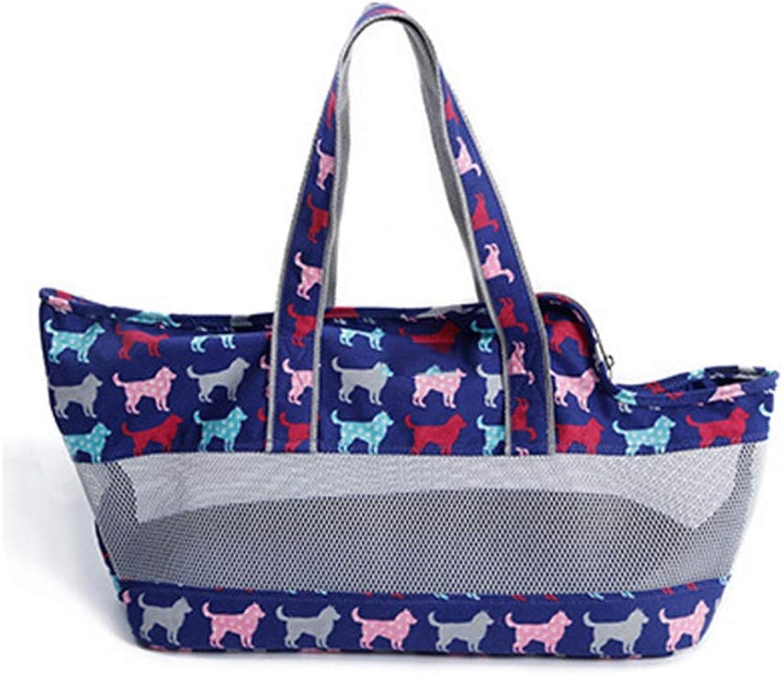 Pet Backpack, Travel Bag Pet Out Fashion Handbag Carrying Bag Messenger Bag (63cm  19cm  30cm) (color   bluee)