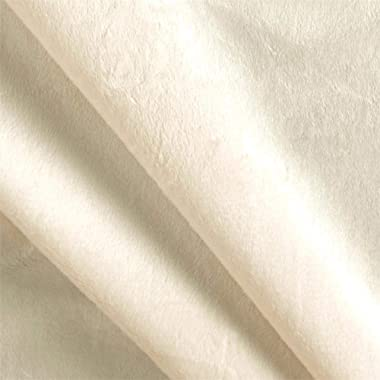 Shannon Fabrics Shannon Minky Solid Cuddle 3 Ivory Fabric By The Yard