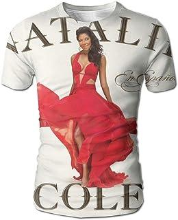 JohnHA Men's Natalie Cole Natalie Cole En Espanol Design 3D Printed Short Sleeve Tshirt