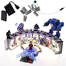 Sponsored Ad - GEAMENT LED Light Kit for Marvel Avengers Iron Man Hall of Armor Compatible with Lego 76125 Building Blocks...