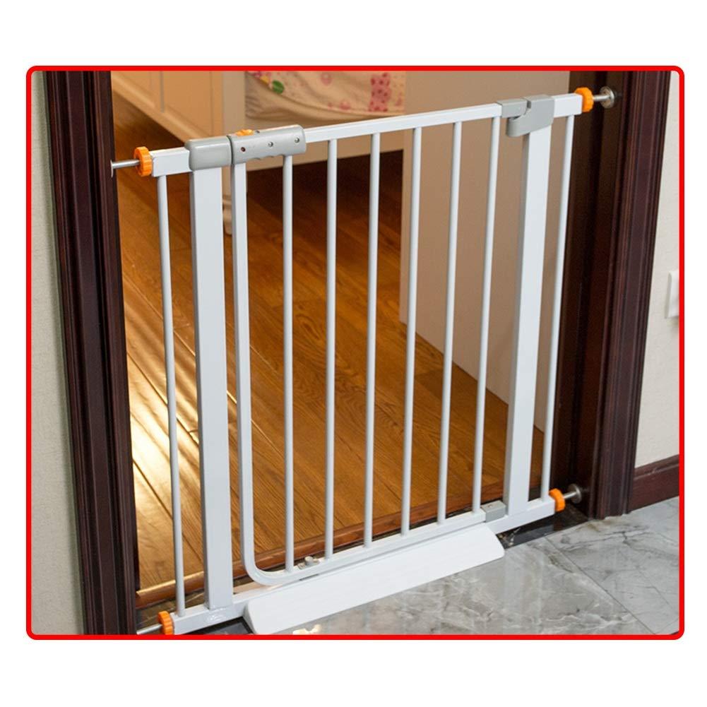 QIANDA Barrera Seguridad Niños Protector Escaleras Bebe Se Adapta A Puertas/Pasillos/Escalera Sin Taladrar Abrir como Una Puerta - Blanco (Ancho 61-215cm) (Size : 208-215cm): Amazon.es: Hogar
