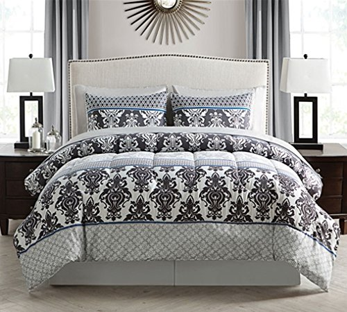 Victoria Classics Beckham Bed in Bag - 8 Piece Full Comforter and Sheet Set