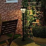 1,2m klassische Außen Solar Leuchte, schwarz, LEDs in warmweiß von Festive Lights