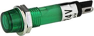 マルヤス電業 小形LEDブラケット(橙色)、取付穴φ7.1、樹脂製、側方視認 可、全電圧式 AC/DC24V、はんだ端子、DB24-73OS