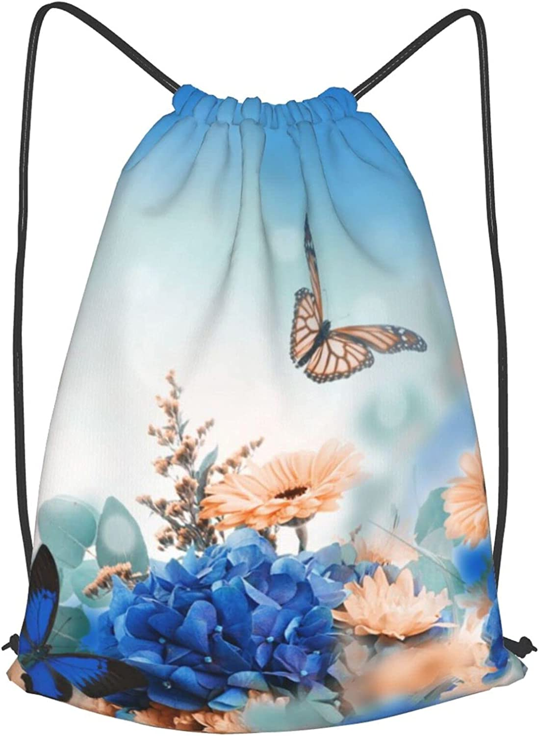 Drawstring Bag Hydrangea And Daisy Light Colorado Springs Mall Sp Butterfly Translated