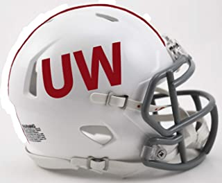 Riddell Wisconsin Badgers UW Throwback NCAA Revolution Speed Mini Football Helmet