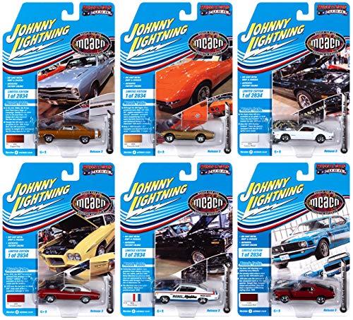 "Muscle Cars USA 2020 Set B of 6 Cars Release 3""Muscle Car & Corvette Nationals MCACN Ltd Ed 2834 pcs 1/64 Diecast Cars by Johnny Lightning JLMC024 B"