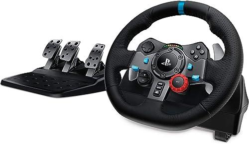 Logitech G29 Driving Force Volant de Course avec Pédales, Retour de Force Réaliste, Palettes Volant en Acier Inoxydab...