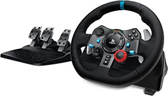 Logitech G29 Driving Force Racing Wheel and Floor Pedals, Real Force Feedback, Stainless Steel Paddle Shifters, Leather...