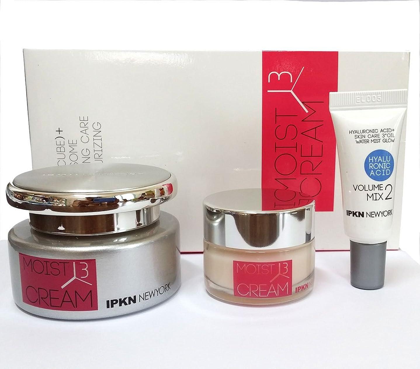 説得力のある邪魔する駐地[IPKN] ニューヨークモイスト3(CUBE)ファーミングクリーム50g + 20g /ヒアルロン酸ボリュームミックス2 25ml / New York Moist 3 (CUBE)Firming Cream 50g + 20g / Hyaluronic acid Volume Mix2 25ml /水分、スムース、コラーゲン / moisture, Smooth,Collagen / 韓国化粧品 / Korean Cosmetics [並行輸入品]