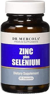 Dr. Mercola, Zinc Plus Selenium Dietary Supplement, 30 Servings (30 Capsules), Supports Immune Health, Non GMO, Soy Free, Gluten Free