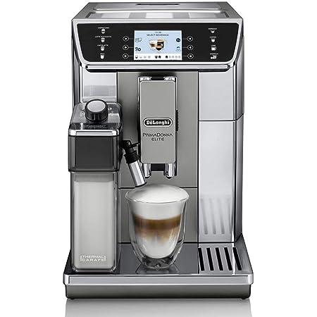 DELONGHI ECAM 650.55.MS | Cafetière automatique PrimaDonna Elite, Argent