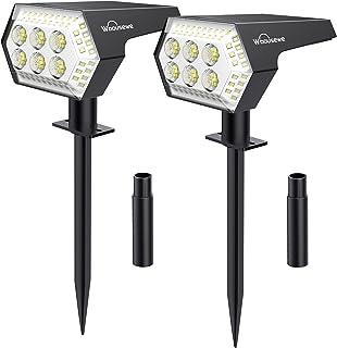 Spot Solaire Extrieur, Whousewe Lampes Solaires Etanche 108 LED IP65 Projecteur Solaire Exterieur 4 Modes Dtecteur de Ecla...