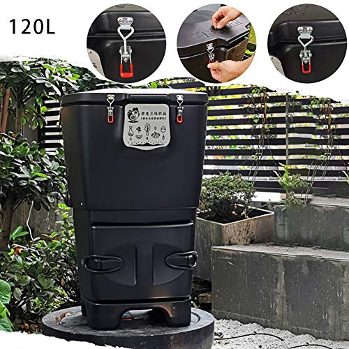 Amazing Deal CRZJ Compost Bin, Simple Household Outdoor Garden Courtyard Compost Bin, Kitchen Waste,...