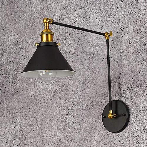 Mkj Wandlamp, Allee, lampen, spiegels, voorkant, hal, lampen, vintage, industrieel, zwart, metaal, wandlamp, retro, ijzer, kunst, wandlamp, E27, woonkamerlampen, lampen, verstelbaar, wandlampen