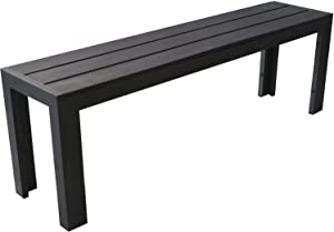 Zahradní Bank Parková lavice Lavice k sezení Lavice Zahradní lavička 132X 43x 30cm hliník Polywood Zahradní nábytek