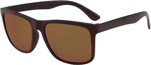 BEEAN Polarized TR90 Lightweight Sunglasses Classic Retro Sun Glasses for Men Women