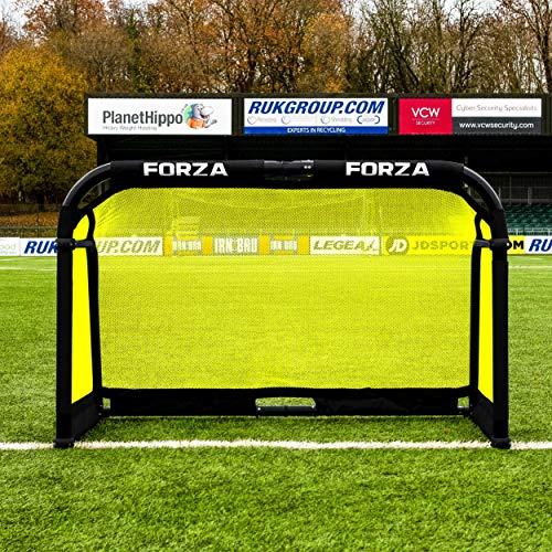 FORZA Aluminium Pod Football Goal - Folding Football Goal | Football Goals with Optional Carry Bag | Football Goals for The Garden | Football Training Equipment (With Carry Bag, 5ft x 3ft)